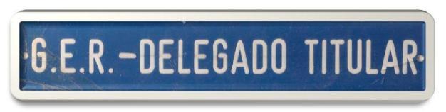 Placa da sala do Delegado de Polícia Titular do GER.