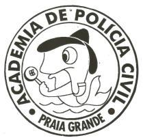 Dístico do Núcleo de Ensino Policial do Litoral (ainda em Praia Grande, 1995).