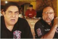 À direita Investigador de Polícia Candel e Rodrigo.