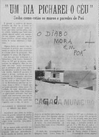 """O Jornal da cidade de Poá já denunciava o problema das pichações. Em julho de 1985 o Notícias de Poá trazia matéria sobre o problema das pichações. """"O diabo mora em Poá"""" Trocaram o M pelo G e R pelo D, onde estava escrito CÂMARA MUNICIPAL."""