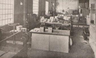 Tipografia do Gabinete de Investigações, em 1933.