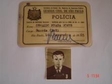 Carteira Funcional da extinta Guarda Civil, expedida em 1.965.