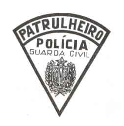 Dístico de patrulheiro da saudosa Guarda Civil de São Paulo. Se ela não tivesse sindo extinta em 1970, certamente ainda estaria ombreada a Polícia Civil, como o seu braço uniformizado.
