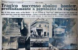 """TRAGÊDIA DO CINE OBERDAN: Manchete do jornal """"Folha da Noite"""" de 11 de abril de 1938. O dia 10 de abril de 1938 foi marcado por uma tragédia no Cine Oberdan, que desde 1927 funcionava na Rua Ministro Firmino Whitaker, no Brás. Ao ver um avião incendiar-se na tela, durante o filme Criminosos do Ar, um dos espectadores gritou """"fogo"""". O público se alvoroçou para sair do cinema, pensando tratar-se de um incêndio no local, e, de acordo com registros do jornal Correio Paulistano, trinta crianças morreram pisoteadas na estreita escada do prédio. Somente uma pessoa adulta estava entre os mortos: tratava-se de uma senhora de 45 anos, que se debruçou sobre o corpinho de sua filha bebê e conseguiu salvá-la. Conta-se que uma mãe lamentou até o fim da vida (quase cinquenta anos depois) o fato de haver proibido o filho Enrico Mandorino de ir passear no Jóquei Clube da Mooca, sugerindo-lhe que, em vez disso, fosse assistir ao vesperal no Cine Oberdan. Quatro dias depois da tragédia, o cinema foi reaberto, com a exibição de um filme sobre a Paixão de Cristo. Mas o local perdeu o encanto de outrora e acabou sendo fechado em meados dos anos 60. Desde 1972, o endereço é ocupado por uma loja de cama, mesa e banho chamada Zelo. Na fachada lateral do prédio existe um camafeu com o rosto de Guglielmo Oberdan, um anarquista italiano homenageado com o nome do cinema."""