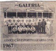 Equipe de cabo de guerra da Extinta Associação Esportiva Guarda Civil, em 1.967.