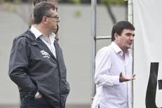 Delegado de Polícia Mário Gobbi, presidente do Sport Clube Corinthians Paulista e o ex-presidente Andres Sanchez.