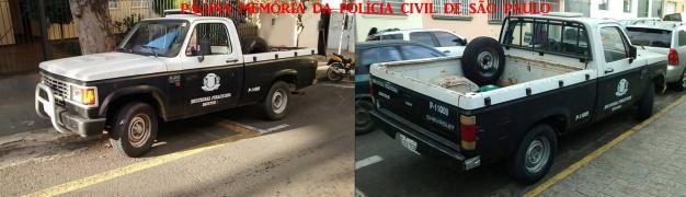 Viatura Chevrolet- A 20, ano 1.990, da Delegacia Seccional de Piracicaba, ainda em atividade. (acervo do GCM Leandro Grabe).
