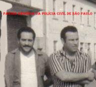 Os saudosos Agente Policial Reinaldo Correia e o Delegado Ernesto Milton Dias, do Setor se Assaltos da DISCCAPT- DEIC (Kilo), década de 70.