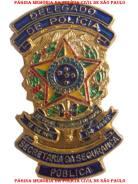 Antigo distintivo de Delegado de Polícia da Polícia Civil do Estado de São Paulo.