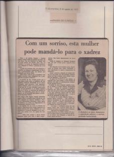 Delegada de Polícia Ivanete Oliveira Velloso, em reportagem no jornal Diario de São Paulo, em 06 de Agosto de 1.975.