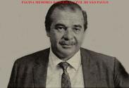 """Delegado Nerval Ferreira Braga, Titular da Delegacia de Roubos, o """"Kilo"""", na década de 60."""