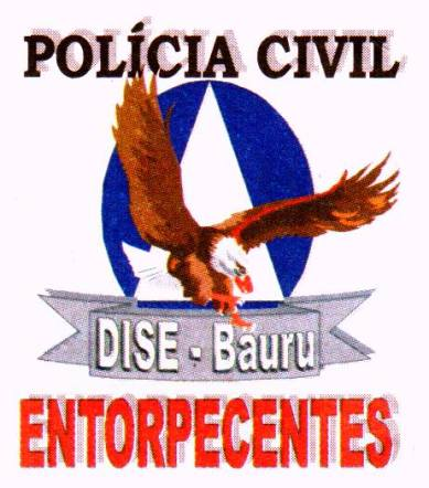 Dístico da DISE- Delegacia de Investigações sobre Entorpecentes da Seccional de Baurú. (Acervo de Samuel de Souza Santos).