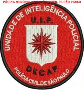 Dístico da U.I.P. - Unidade de Inteligência Policial do DECAP.