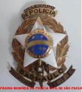 Primeiro modelo de distintivo de Delegado de Polícia do Estado de São Paulo, de 1.905.