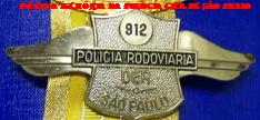 Distintivo da extinta Polícia Rodoviária do DER (Departamento de Estrada de Rodagem) de São Paulo, até a década de 60.