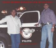 Delegado Antônio Olim (atualmente eleito Deputado Estadual), atuando como Piloto do grupo 30, do GARRA/DEIC, ao lado do Investigador de Polícia Makoto do GARRA grupo 31, em 1.994.