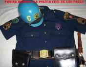 Uniforme de Patrulheiro da extinta Guarda Civil da Polícia do Estado de São Paulo, na década de 60. (Acervo do GCM de São Paulo Leandro Grabe).