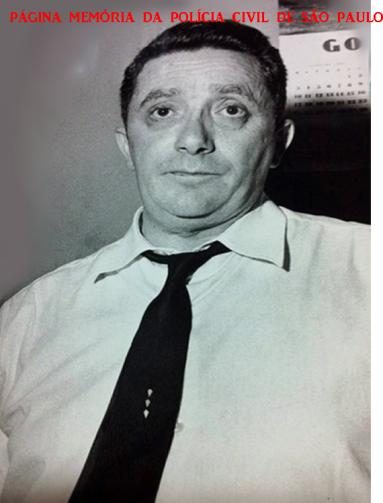 Delegado Hélio Nico, da Delegacia de Roubos do antigo DI- Departamentos de Investigações (Kilo), na década de 60. (Acervo do Repórter Policial João Bussab).
