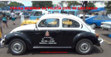 "Viatura VW Sedan ""Fusca"", da Delegacia Seccional de Avaré."
