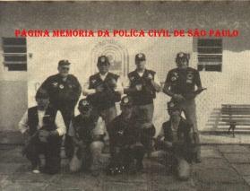 equipe do GARRA responsável pelo treinamento dos grupos congêneres no interior (década de oitenta).