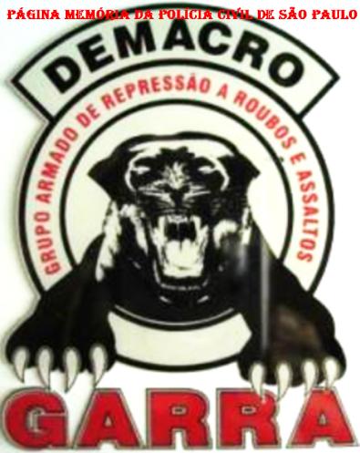 Dístico do GARRA do DEMACRO, usado no início dos anos 90.
