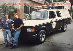 Investigadores do GARRA, Fabio Rossi e Eduardo Borges, em 1.995.