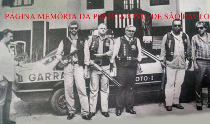 Equipe Piloto l do GARRA de São Bernardo dos Campos, acompanhada pelo Supervisor Delegado Nelson J. Noronha Nassif Sobrinho, em 1.990.