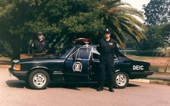 GER- DEIC, Delegado Toninho e Investigador Mello, em 1989.