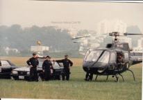 GER- Grupo Especial de Resgate e Pelicano SAT. À esquerda Investigador de Polícia Capelli e ao centro, o Vitrolinha No Helicóptero, o saudoso Gibinha, na década de 80.