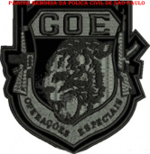 Dístico bordado do GOE- Grupo de Operações Especiais.