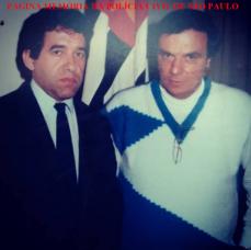 Delegado Itagiba Franco e o reporter policial Gil Gomes, no início da década de 80.