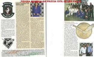 Revista Arte Suave da Federação Paulista de Jiu Jitsu. Entrevista realizada com policiais do GARRA, pelo presidente da F.P.J.J Otávio de Almeida. Na foto à direita abaixo, o Delegado Luiz Roberto P. de Arruda.