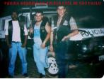 Ronda policial da Seccional de Santo André, no município de Ribeirão Pires, em 1.994. À partir da esquerda, Agente policial José Luiz (morto em ocorrência de troca de tiros com assaltantes); ao centro agente policial Alexandre Lopes e Investigador Pierre.