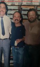 """4ª Delegacia da DISCCPAT """"Kilo"""", do DEIC, no início da década de 80. Investigadores Laercio Carvalho (Chefe), Ageo Barros e Fábio Corcione """"in memoriam""""."""