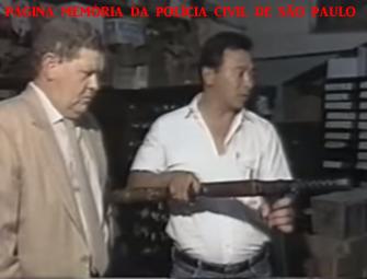 Chefe dos Investigadores Oscar Matsuo e o saudoso Delegado Pedro Liberal,Titular da 5ª Delegacia de Roubo a Bancos da DISCCPAT- DEIC (Kilo), em 1.988.