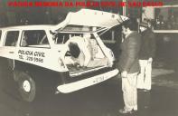 """GARRA- Oeste em operação no Jardim Helena Maria- Osasco, em 1.979. Motorista Policial Laranjeira (depois passou para Delegado) """"in memorian"""" e Investigador Miguel."""