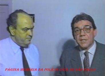 Delegado Nelson Silveira Guimarães e o Reporter Policial João Leite Neto, em 1.992.