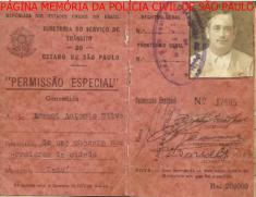 Permissão Especial para dirigir (somente no Município em que foi expedida), da Diretoria do SMT- Serviço de Trânsito do estado de São Paulo, assinada pelo Delegado de Polícia do Município de Tatui, na década de 40. https://www.facebook.com/MemoriaDaPoliciaCivilDoEstadoDeSaoPaulo/photos/a.282966865159225.65442.282332015222710/1182650385190864/?type=3&theater