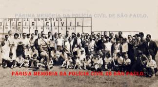 Policiais do antigo DEGRAN, com familiares e amigos, na Praça de Esportes da Polícia Civil, na década de 60.