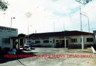 Prédio do 1º Distrito Policial de Ourinhos, na década de 70.