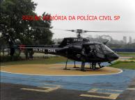 Helicóptero Pelicano do SAT- Serviço Aero Tático da Polícia Civil.