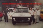 Equipe do GARRA, no final da década de 70. À partir da esquerda Investigadores Paraná, (?), (?) e (?).