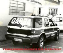 Viatura GM Blazer V6, ano 1.998 do GARRA de Piracicaba. (Acervo dos Investigadores Paulo Ribeiro e Felipe Bitú).