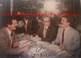 Em 1.983, jantar com os Delegados Luiz Viganó, José Emílio Pescarmona e Paschoal Ditura.