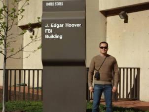 Delegado de Polícia do GARRA, Alexandre Oliveira em visita à Sede do F.B.I.- Federal Bureau of Investigation, em Washington D.C- USA.