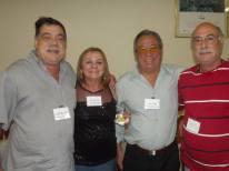 Investigadores Alfredo Lambiase, Maria Guedes Damas, Oscar Matsuo e Abilio.