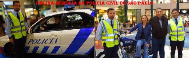 Visita do Delegado Paulo Roberto De Queiroz Motta à Polícia de Lisboa- Portugal, com a ex- Comandante Anabela Alferes e outros policiais, em abril de 2.014.