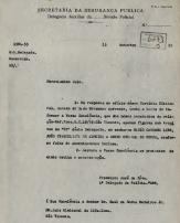 Ofício expedido pelo Delegado de Polícia Francisco José de Nova, em 13/09/55. Posteriormente, foi Secretário de Segurança Pública do Estado de São Paulo, de 31/01/1959 a 20/01/1961.