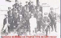 Polícia do Estado de São Paulo, do Município de Franca, em 1.930 À partir da esquerda sentados, Escrivão José Jurandir Nascimento; e Delegados José Lopes Oliveira e Sancho Biscote.