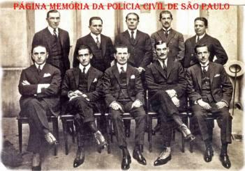 Delegados de Polícia Diretores das Divisões da Policia do Estado de São Paulo, décadas de 30/40.